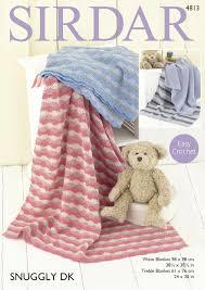 Patterned Blankets New Sirdar 48 Crochet Pattern Easy Crochet Patterned Blankets In