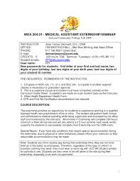 Resume Sample For Medical Assistant Internship New Fascinating