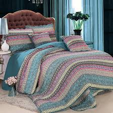 handmade bedding set king size luxury striped classical cotton quilted bedspread comforter duvet cover set printed collection teal bedding king size bedding