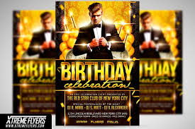 Birthday Flyer Templates Free Adorable Birthday Flyer Template Flyer Templates Creative Market