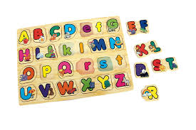 childrens kids learning wooden letters abc alphabet puzzle tray toy by sria