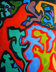 abstract paintings devil you know abstract art by british artist keith garrow