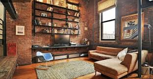 the brick living room furniture. Brick Living Room Furniture Modern With High Ceiling Hardwood Floors On Vintage The