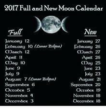 2017 Full And New Moon Calendar New January 27 January 12