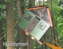 Image Pre Built How To Build Tree House The Family Handyman How To Build Tree House Building Tips The Family Handyman
