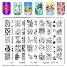 Amazon.com : BMC 4pc DIY Decal Making Nail Stamping Metal Guide ...