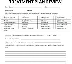 Treatment Plan Templates Planning Mental Health Sample Thank You ...