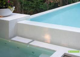 glass tile pool waterline realistic the elegance of this pool and spa is exemplified through the choice