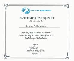 Certification Of Completion Ojt Image Gallery Hcpr