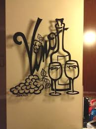 >vino for two metal wall art home decor transitional metal  vino for two metal wall art home decor