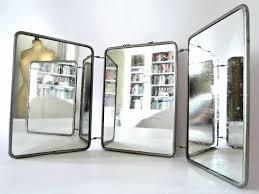 Mirrors: Vintage French Three Way Tri Fold Vanity Mirror Omero