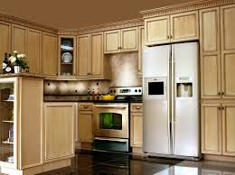 Glazed White Kitchen Cabinets Antique White Kitchen Cabinets With Chocolate Glaze Home Design