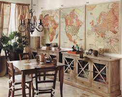 Small Picture vintage map decor Def doing this and marking all the places I