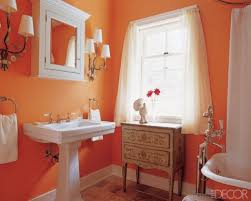 Bright Orange Bathroom