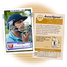 card maker template custom cricket cards retro 50 series starr cards