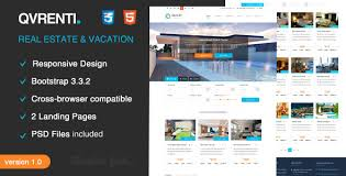 real state template qvrenti responsive real estate html5 template by template geek