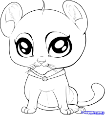 Cute Baby Animal Coloring Pages For Kids With Coloring Pages Cute