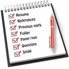 What to take on an interview