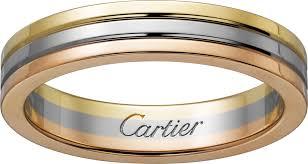 cartier wedding rings. CRB4052200 Trinity de Cartier wedding band White gold yellow