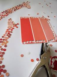 diy projects made with paint chips diy paint chip art best creative crafts