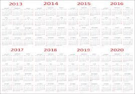 New Year 2013 2014 2015 2016 2017 2018 2019 2020 Calendars