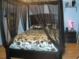 Black Canopy Bed Curtains How To Make Blackout Full Size Of M – twojews