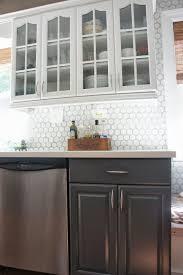 Vinyl Kitchen Backsplash Interior Beautiful Vinyl Tile Backsplash Medias Thrifty Crafty