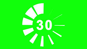 30 Sec 30 Seconds Countdown Green Background Stock Footage Video