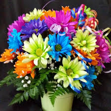 Florist in Harrison Flower Delivery - This fun flower arrangement is filled  with neon colored daisies