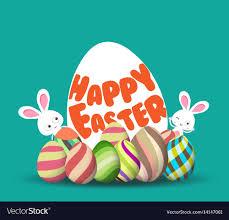 Easter Egg Hunt Background For Greeting Card Ad