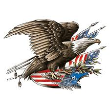 Patriotic Eagle and Flag Large Freedom Temporary Tattoo - GOimprints