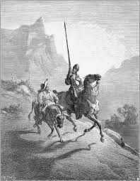 don quixote and sancho setting out 1863 gustave dore