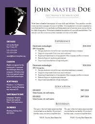 Resume Template Doc All Best Cv Resume Ideas