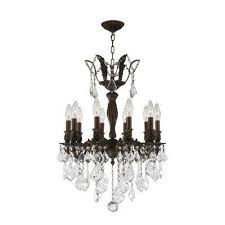 versailles 10 light flemish brass chandelier with clear crystal