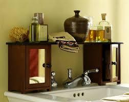 Kitchen Sink Shelf Organizer Bathroom Designs Over The Bathroom Sink Shelf And Tone Wooden