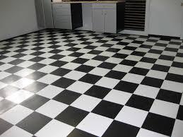 black and white vinyl tile effect