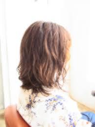 ボンジュールパーマミディアムヘアスタイル 広島県福山市 美容室