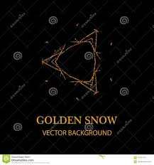 Snowflake With Gold Glitter Texture Christmas New Year Golden