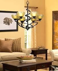 franklin iron works chandeliers oil rubbed bronze ribbon chandelier amber art glass 6 light