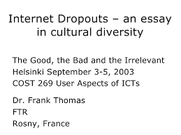 internet dropouts internet dropouts an essay in cultural diversity the good the bad and the irrelevant