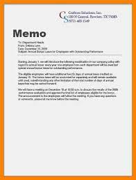 Writing Memo Samples 6 Examples Of A Memorandum Letter Ismbauer