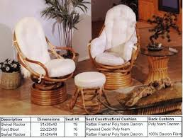 rattan swivel rocking chair cushions recliners from heritage house