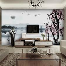 Wall Mural For Living Room Wall Murals In Living Room Unique Table White Leather Sofa