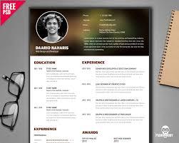 Free Creative Resume Templates Free] Creative Resume Template PSD PsdDaddy 41