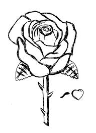 Small Picture Free Coloring Pages Roses