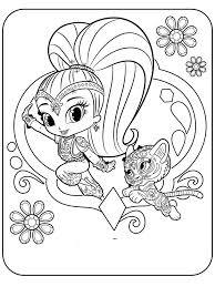 Shimmer And Shine Coloring Pages Free Printable Shimmer And Shine