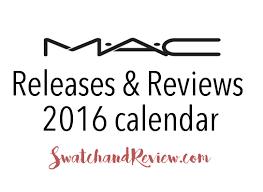 mac cosmetics 2016 release calendar