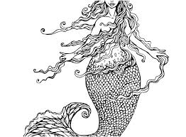 Realistic Mermaid Coloring Pages Realistic Mermaid Coloring Pages