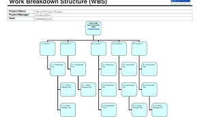 Work Breakdown Structure Template For Excel Templates Task Word ...