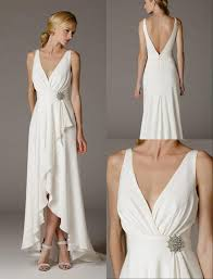 best 25 wedding dress sale uk ideas on pinterest bohemian Wedding Hire Outfits 2016 sexy simple deep v neck ruffle satin informal wedding dresses sleeves high low second wedding bridal gowns low back hire wedding outfits for ladies